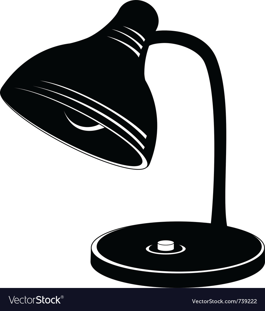 Desk lamp silhouette vector | Price: 1 Credit (USD $1)