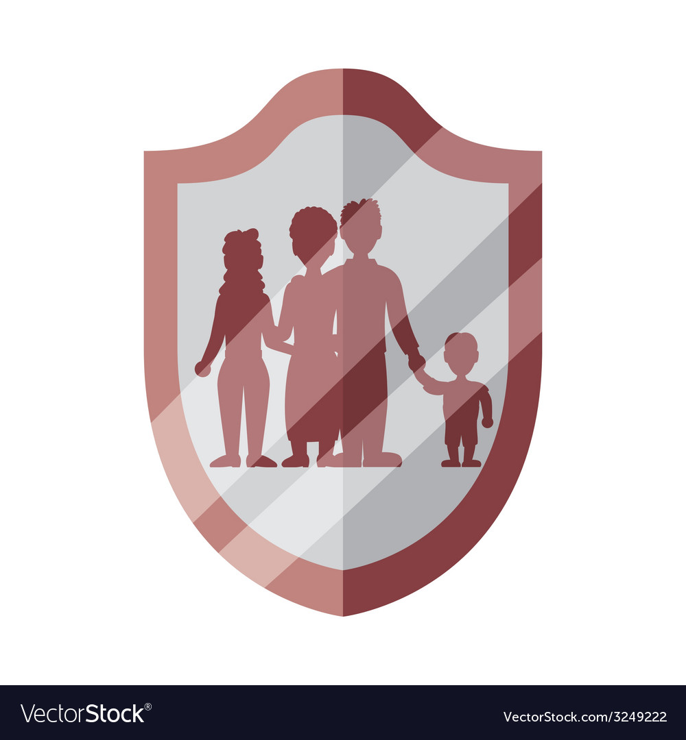 Family insurance design vector | Price: 1 Credit (USD $1)