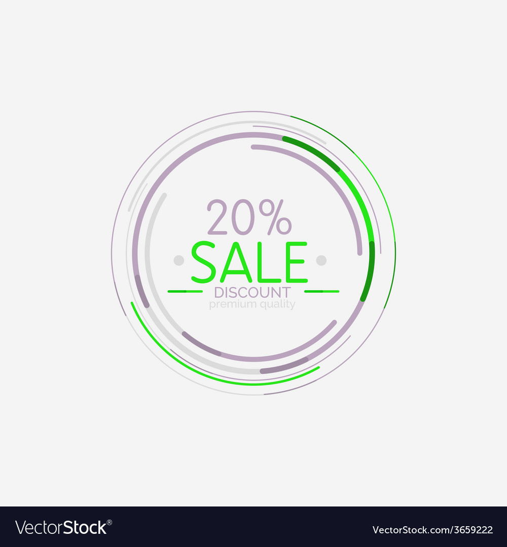 Minimal line design shopping stamps sale vector | Price: 1 Credit (USD $1)