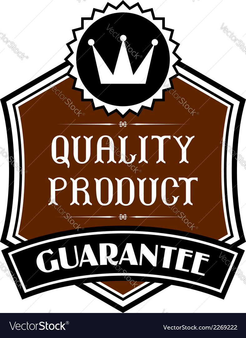 Quality product label vector | Price: 1 Credit (USD $1)