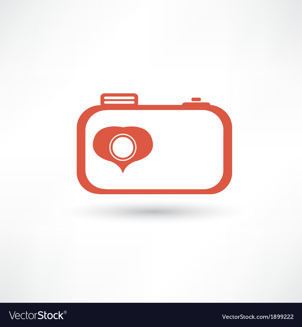 Red nice camera icon vector | Price: 1 Credit (USD $1)