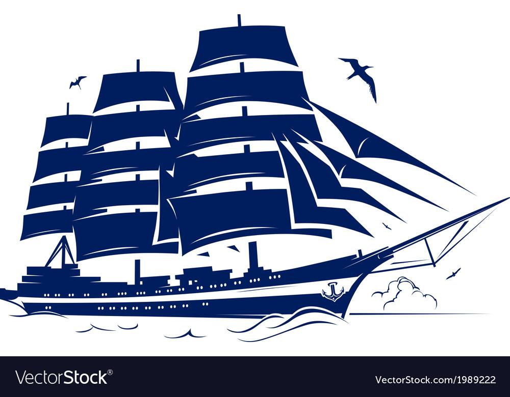 Sail ship vector | Price: 1 Credit (USD $1)