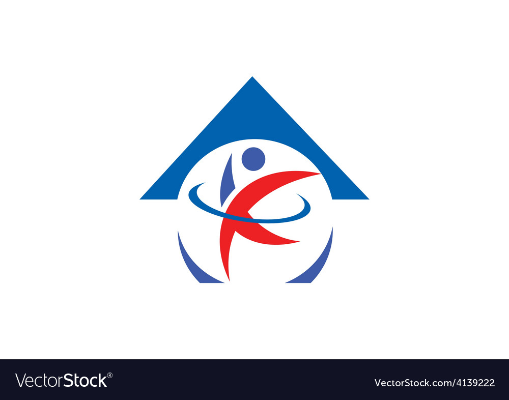 Sport house active people logo vector | Price: 1 Credit (USD $1)