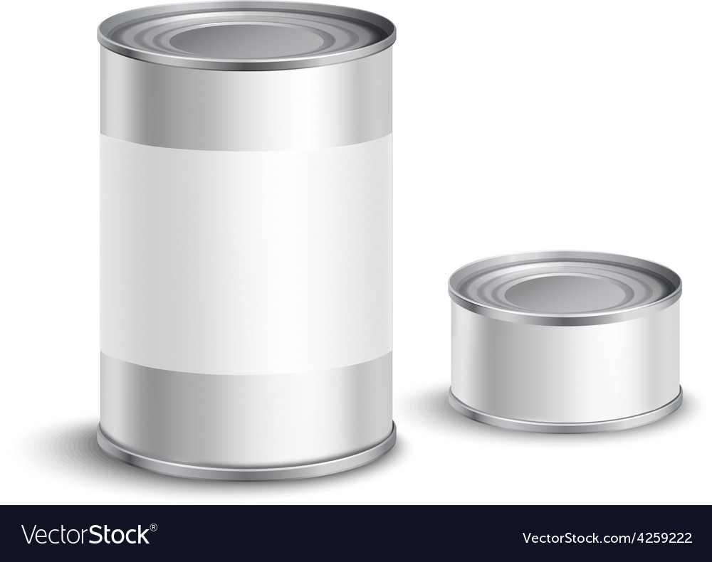Tin can set vector