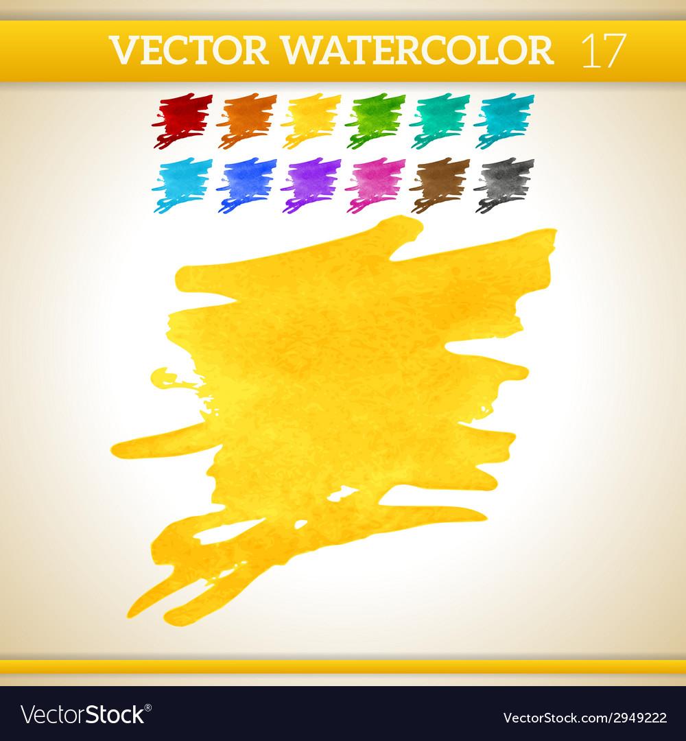Warm sunshine yellow watercolor artistic splash vector | Price: 1 Credit (USD $1)