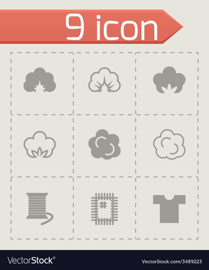 Cotton icon set vector | Price: 1 Credit (USD $1)