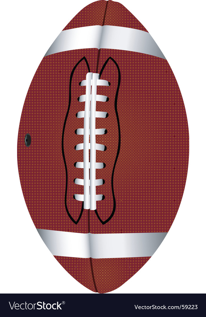 Football pigskin vector | Price: 1 Credit (USD $1)