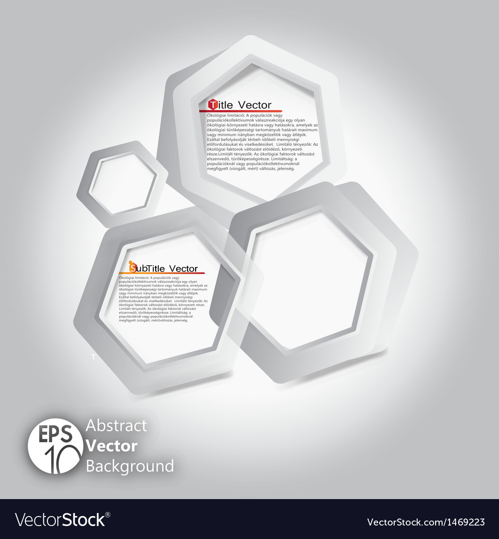 Hexagon infographic template vector | Price: 1 Credit (USD $1)