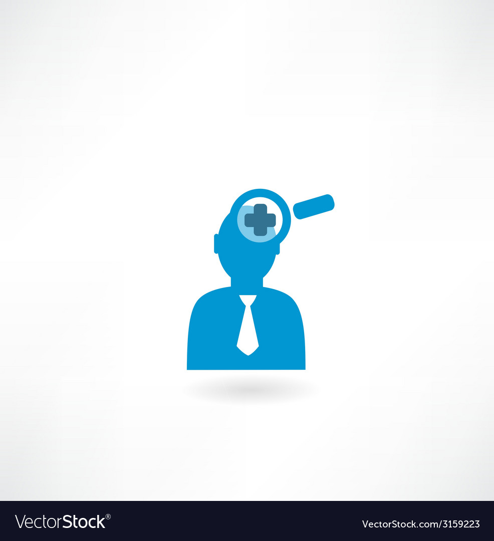 Man with a magnifier vector | Price: 1 Credit (USD $1)