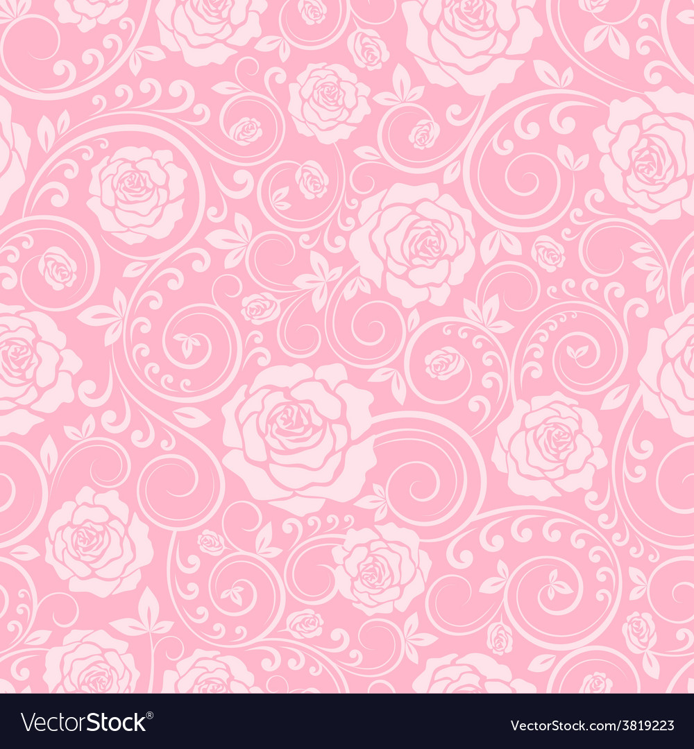 Pink ornament of roses vector | Price: 1 Credit (USD $1)