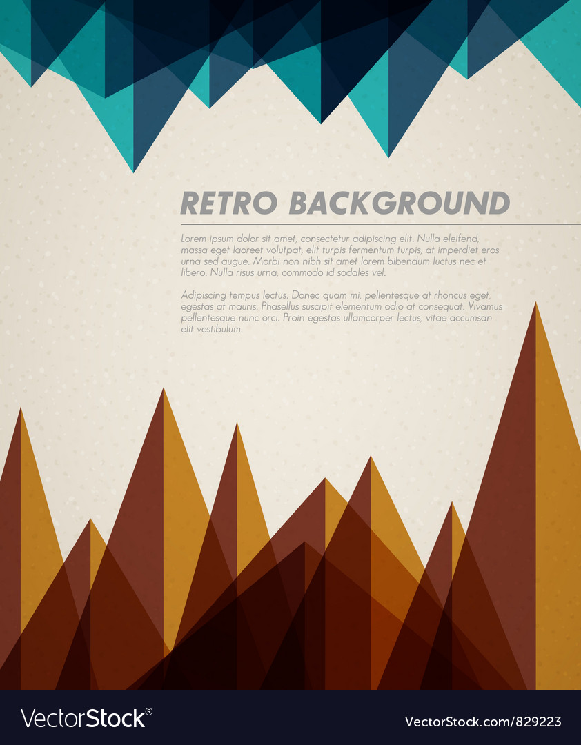 Retro background hory vector | Price: 1 Credit (USD $1)
