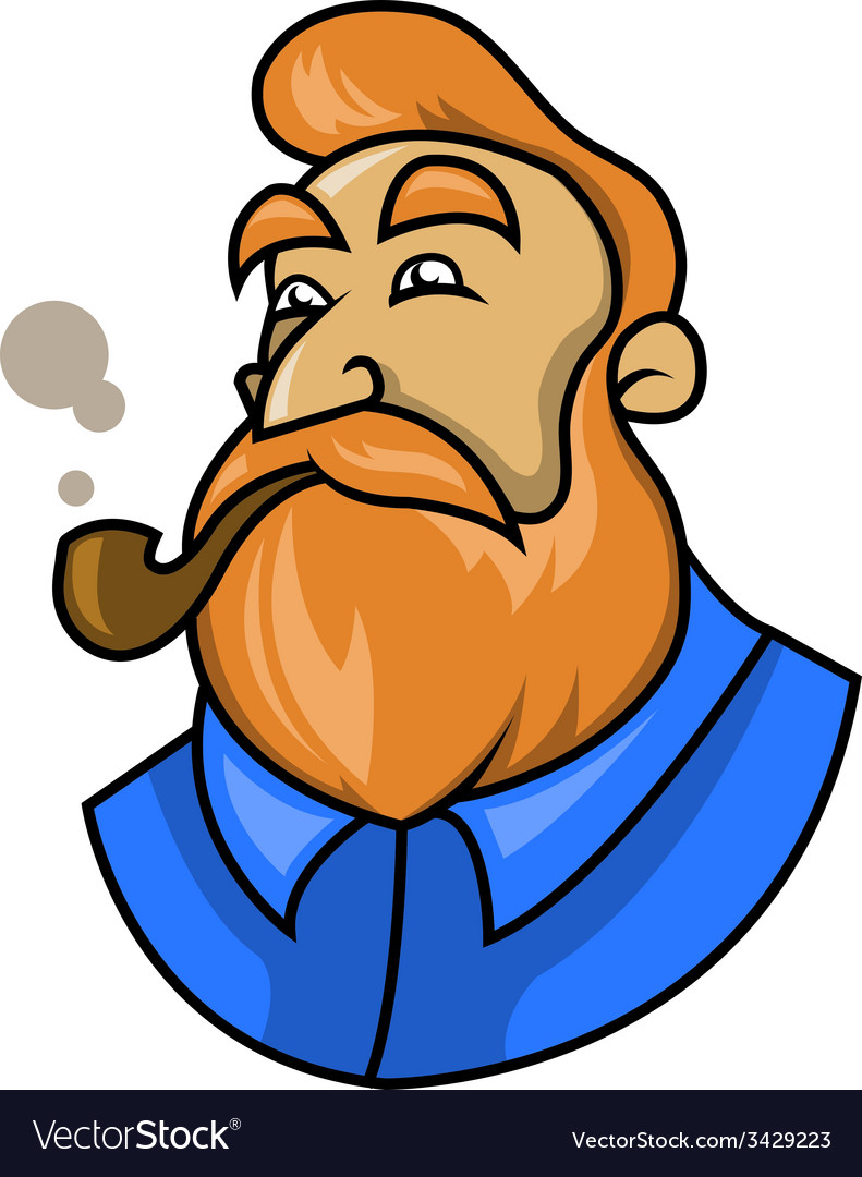 Smoking a pipe vector | Price: 1 Credit (USD $1)