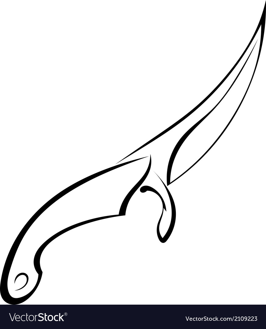 Tattoo knife on white background vector | Price: 1 Credit (USD $1)