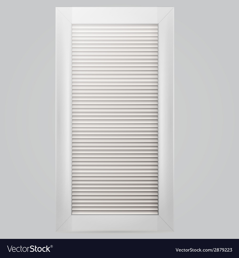 White window shutter vector | Price: 1 Credit (USD $1)