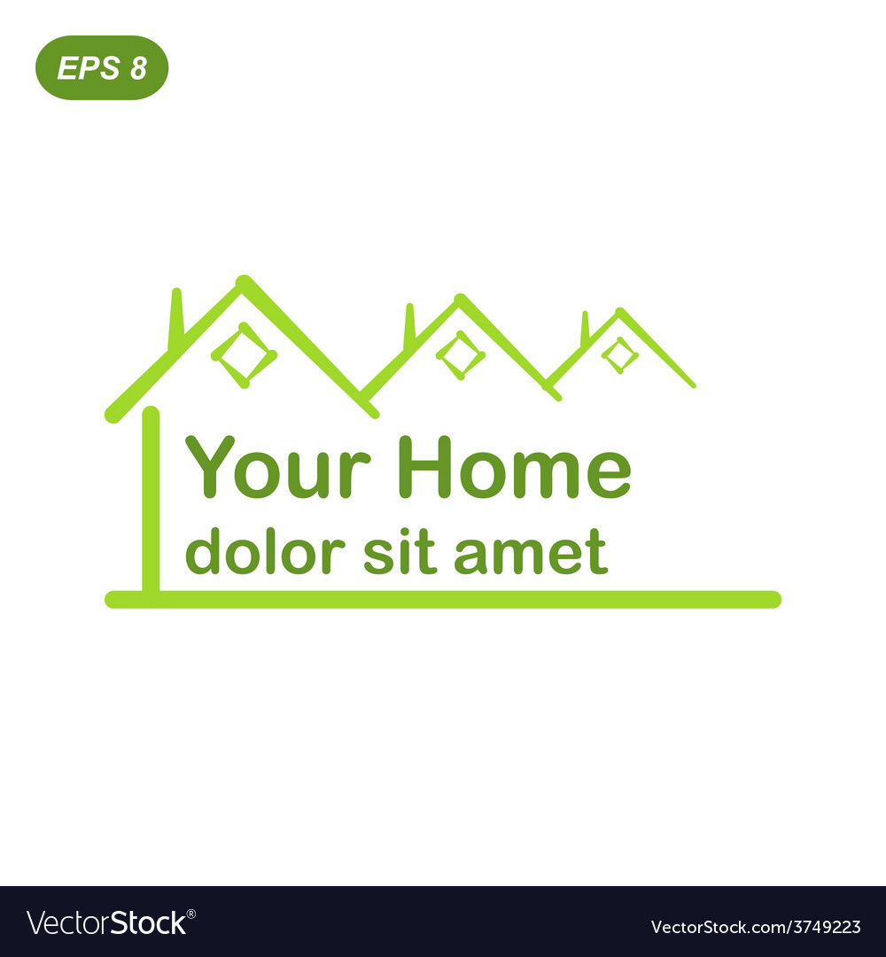 Your green home logo conception vector | Price: 1 Credit (USD $1)