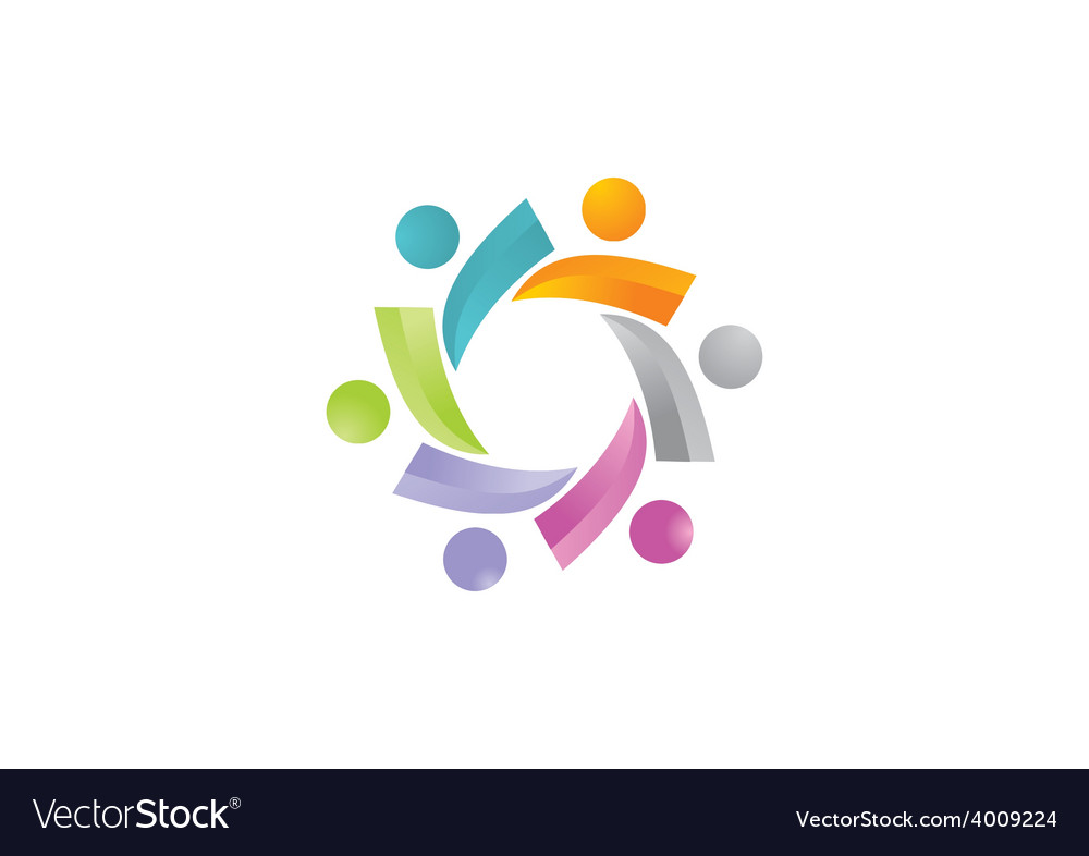 3d people teamwork logo vector | Price: 1 Credit (USD $1)