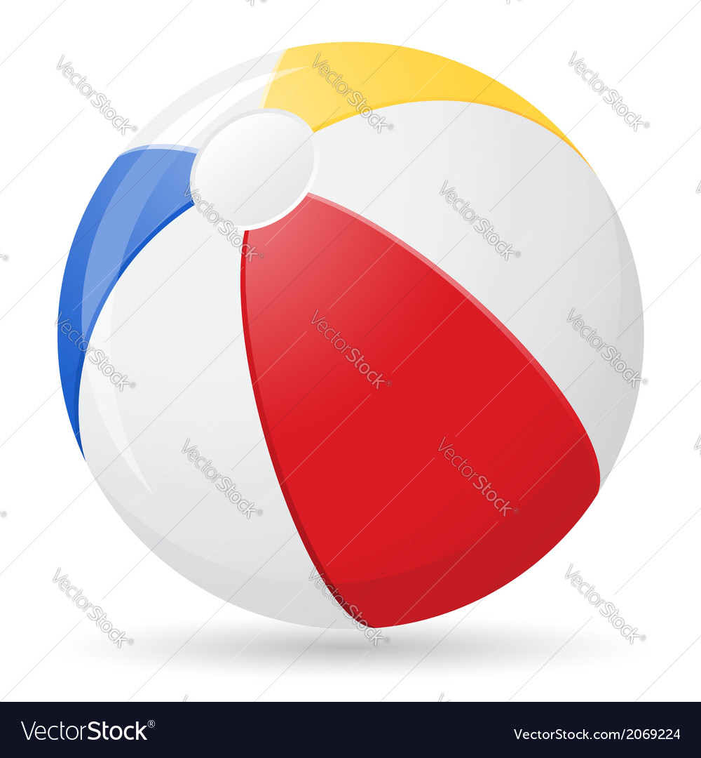 Beach ball 02 vector | Price: 1 Credit (USD $1)
