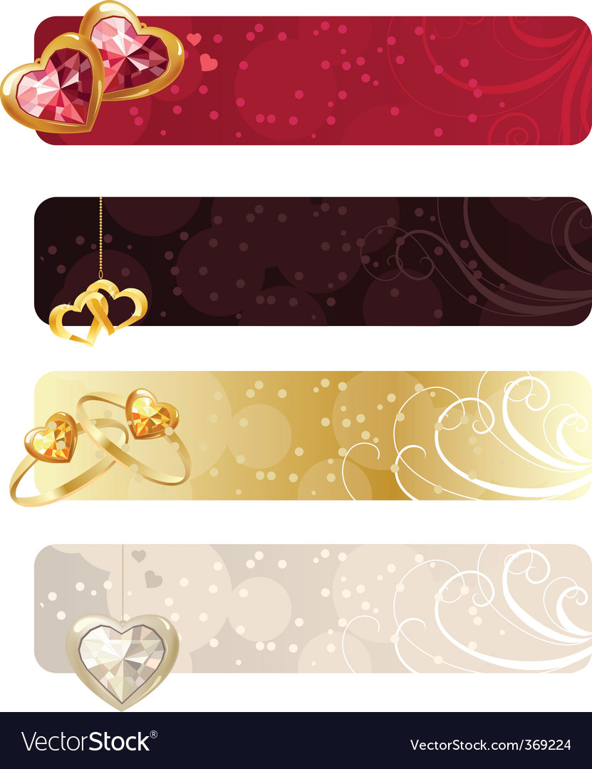 For horizontal banners with jewels vector | Price: 1 Credit (USD $1)