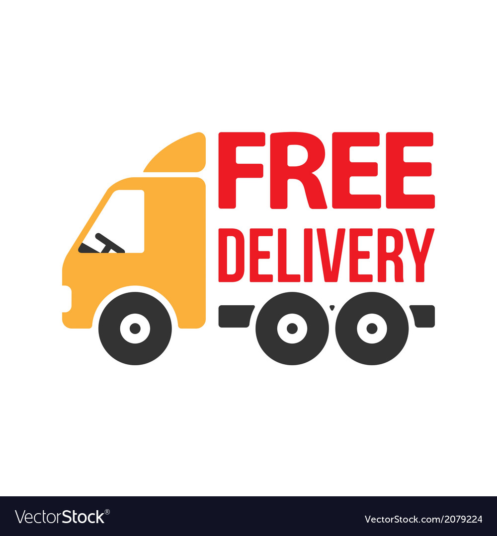 Free delivery icon flat style vector | Price: 1 Credit (USD $1)