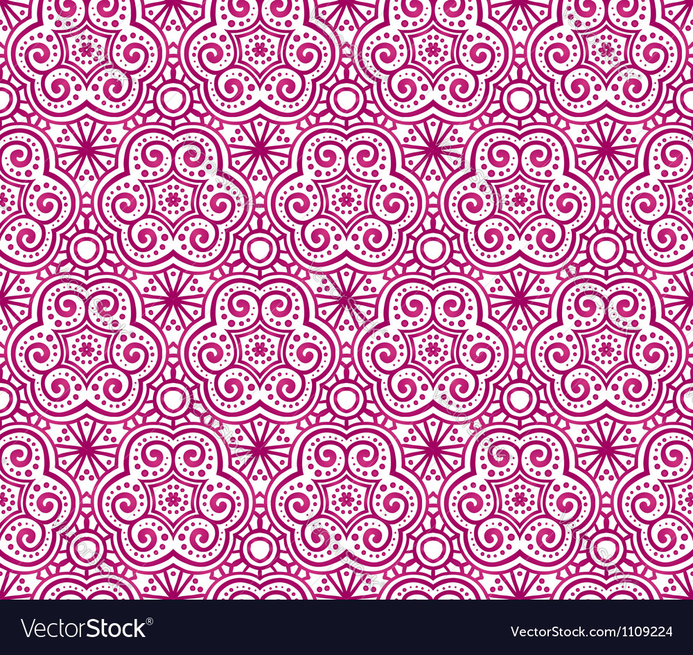 Red abstract curls seamless pattern vector | Price: 1 Credit (USD $1)