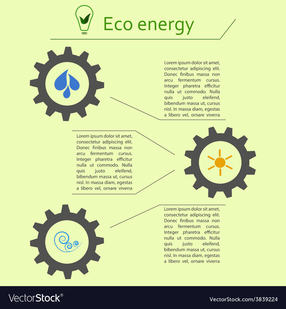 Renewable energy infographics vector | Price: 1 Credit (USD $1)