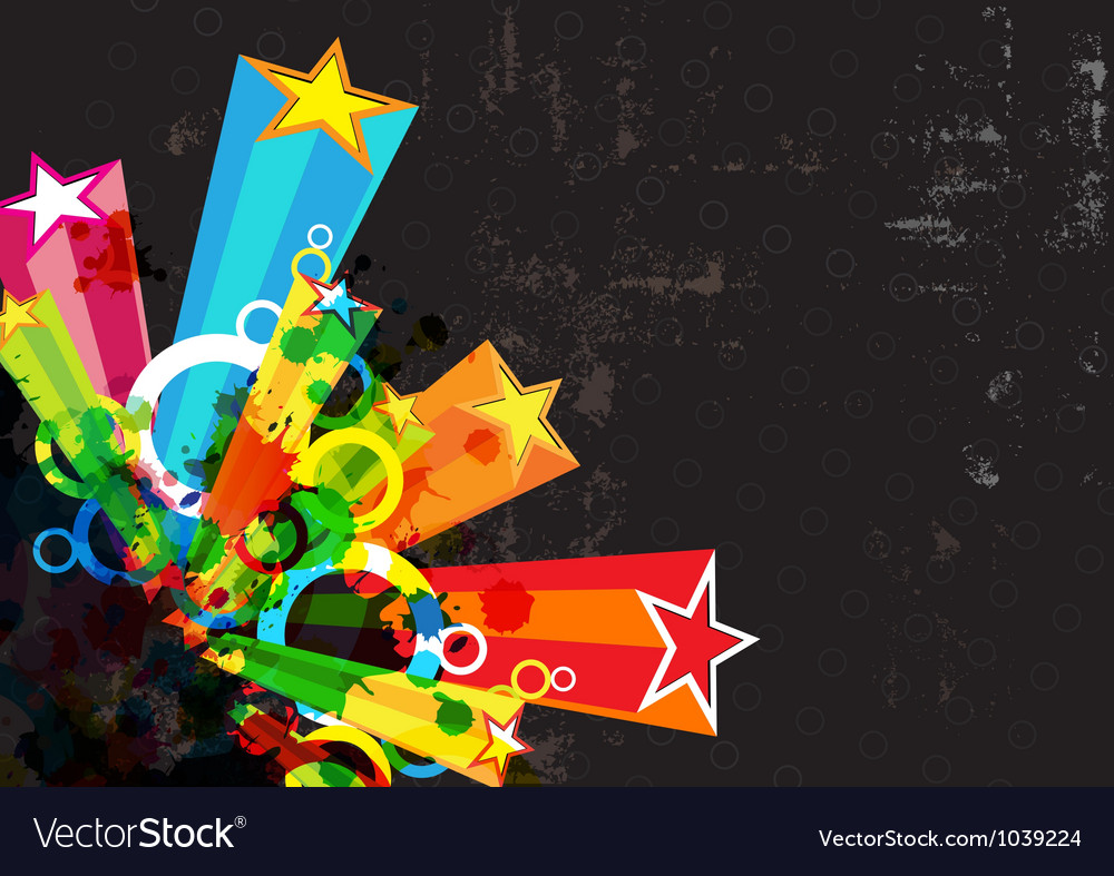 Star festival grunge background vector | Price: 1 Credit (USD $1)