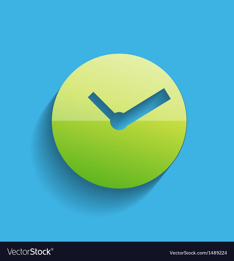 Time clock icon modern flat design vector | Price: 1 Credit (USD $1)