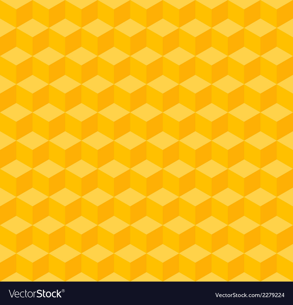 Yellow geometric seamless background vector | Price: 1 Credit (USD $1)