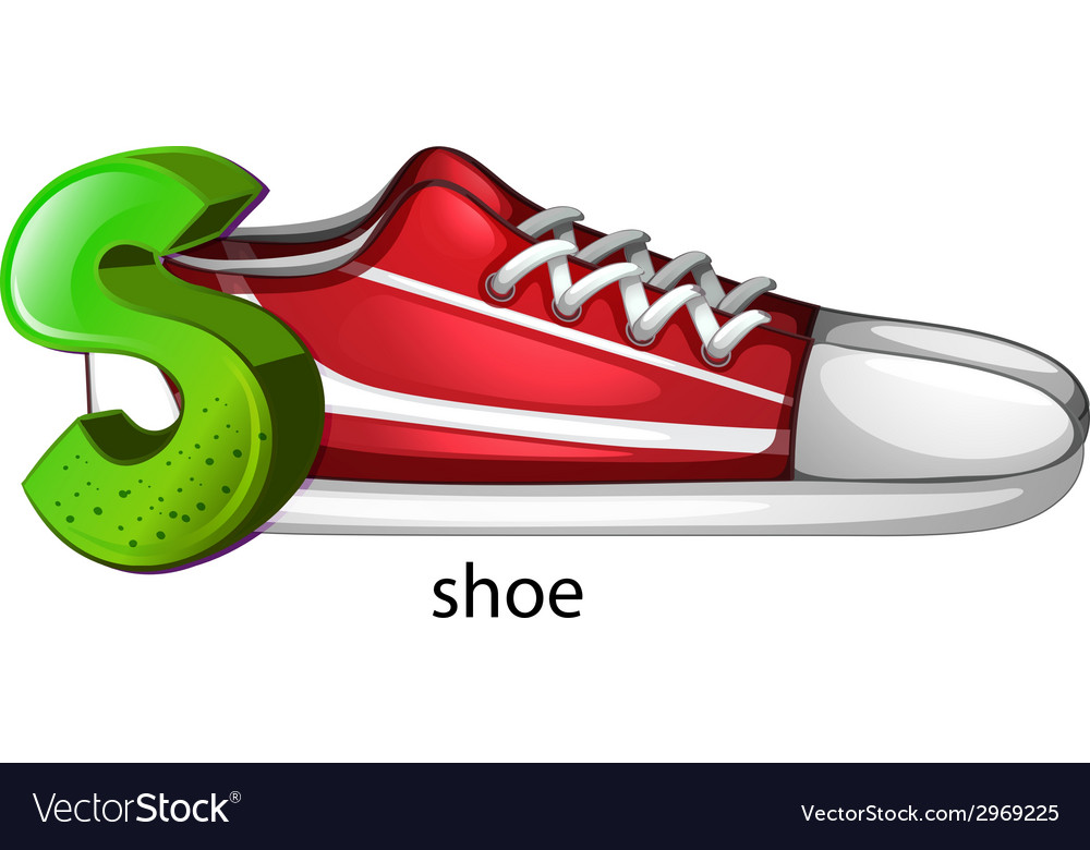 A letter s for shoe vector | Price: 1 Credit (USD $1)