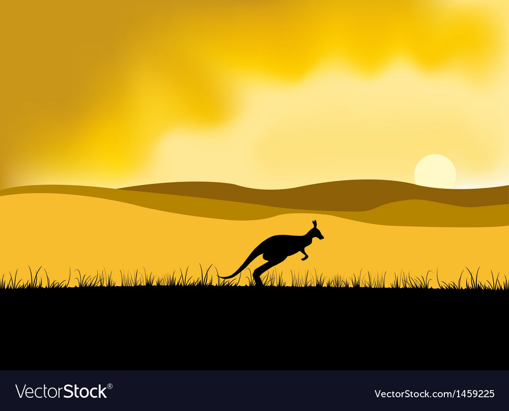 Australia sunset vector | Price: 1 Credit (USD $1)