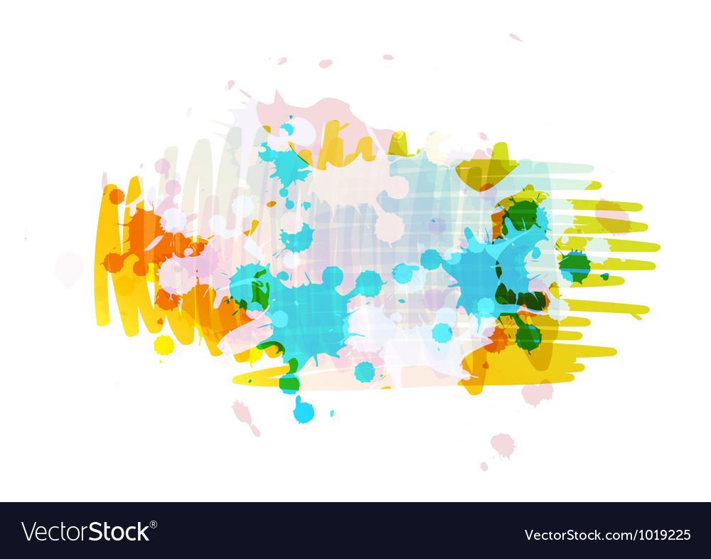 Banner background design with ink splatter vector | Price: 1 Credit (USD $1)
