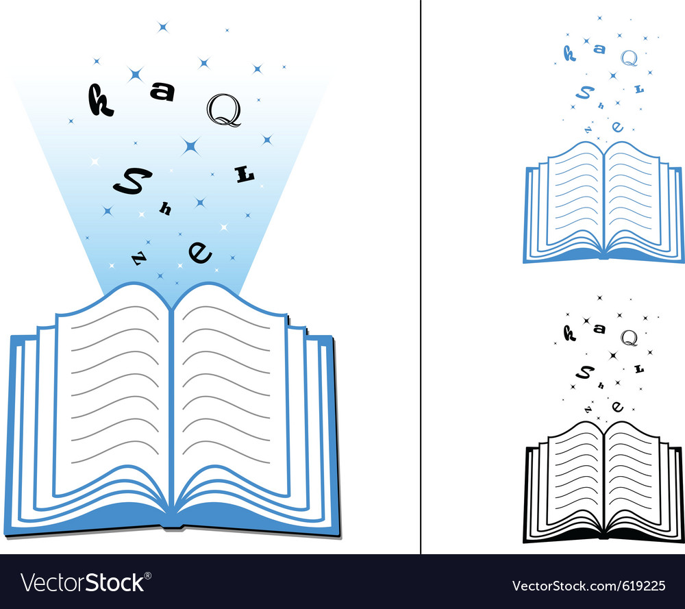 Book of learning vector | Price: 1 Credit (USD $1)