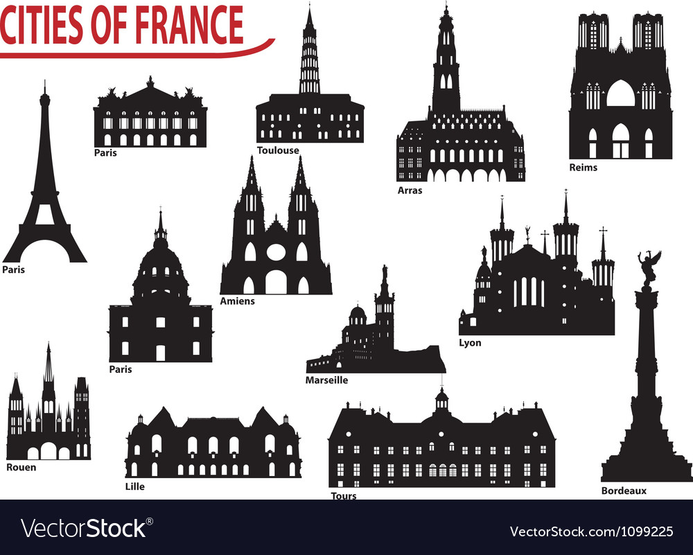 City of france vector | Price: 1 Credit (USD $1)