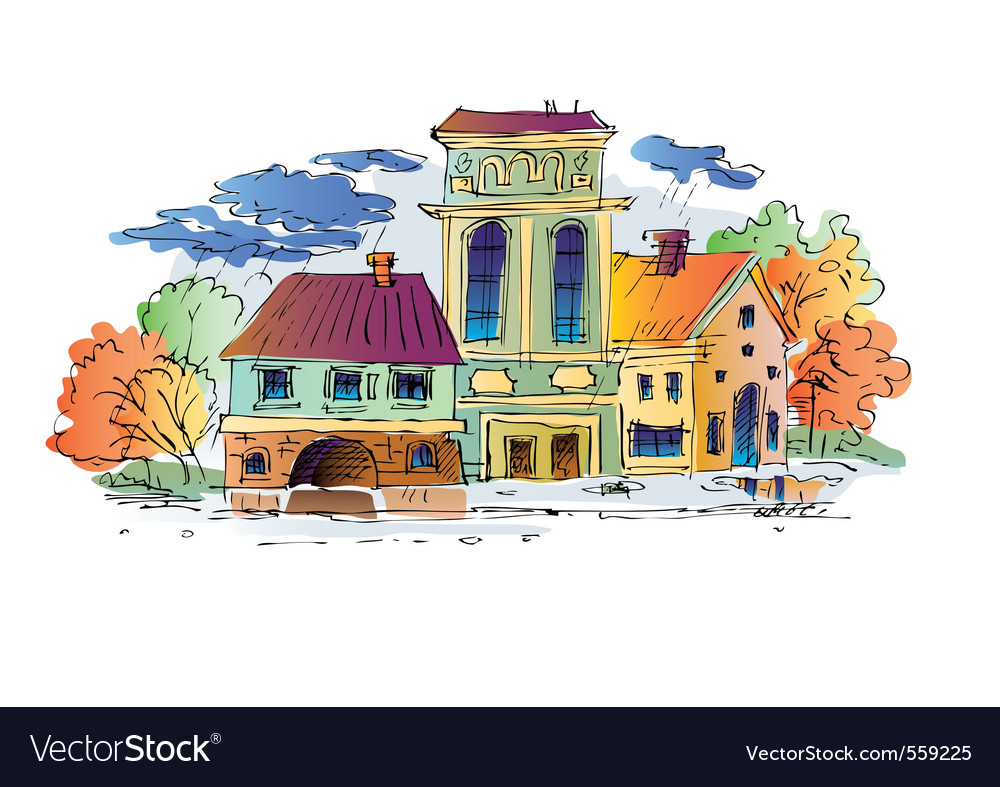 Home in autumn vector | Price: 1 Credit (USD $1)