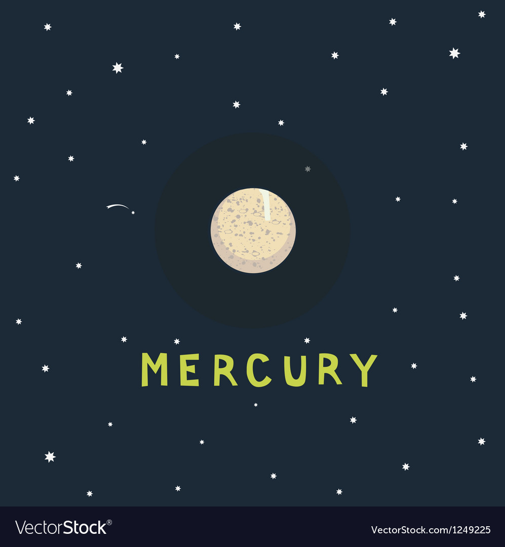 Mercury space view vector | Price: 1 Credit (USD $1)
