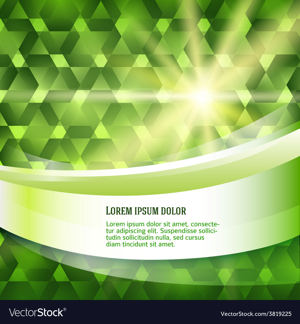 New product label green glowing background sun vector | Price: 1 Credit (USD $1)