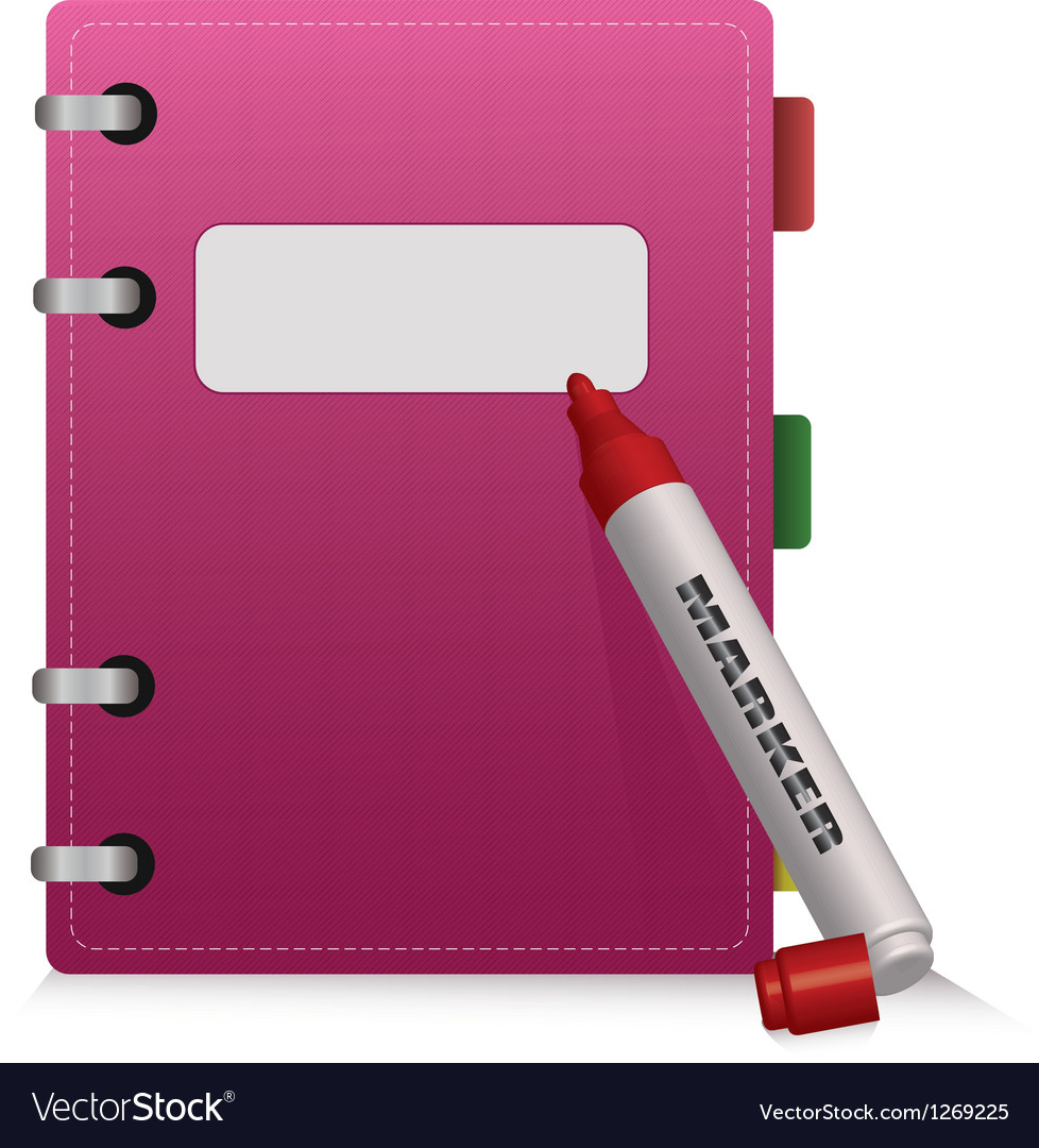 Pink diary vector | Price: 1 Credit (USD $1)