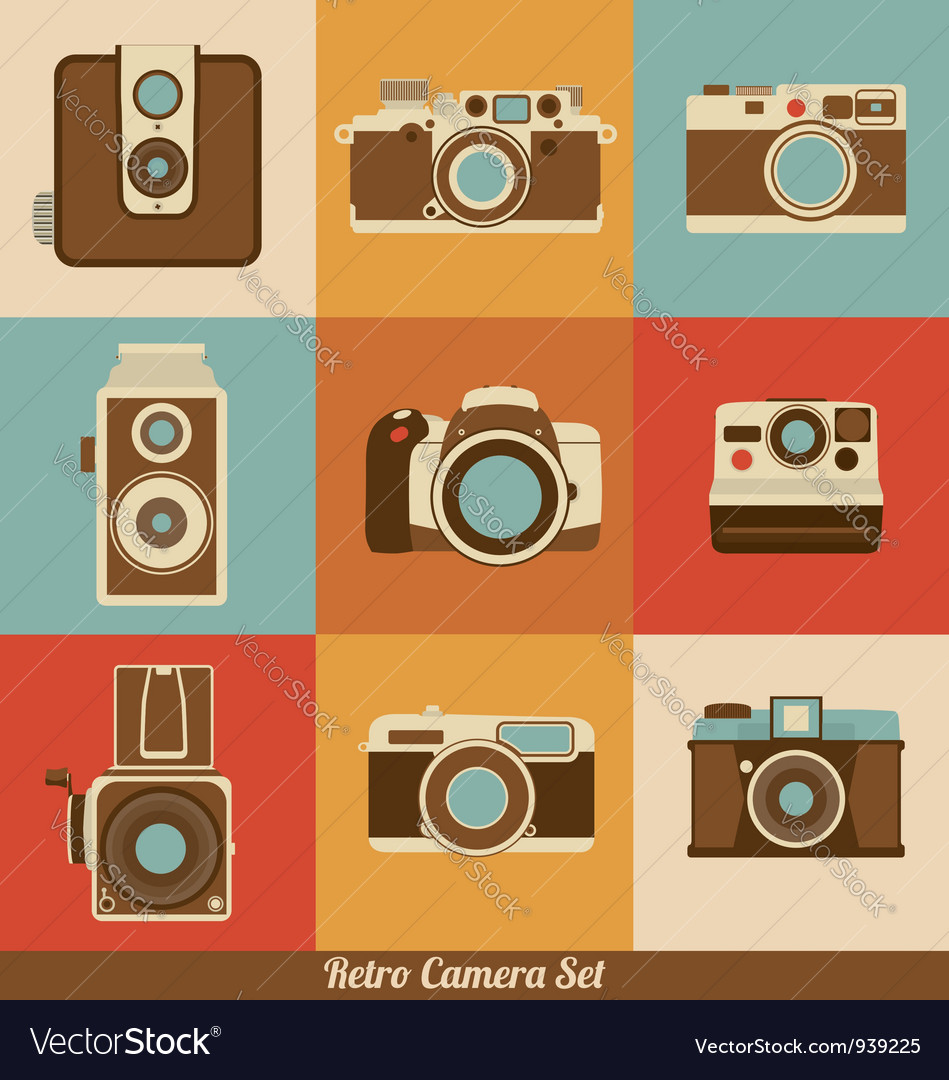 Retro cameras vector | Price: 3 Credit (USD $3)
