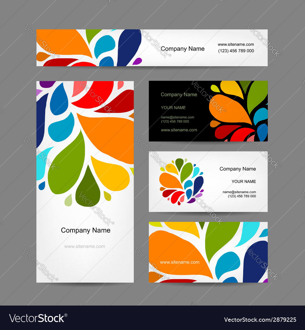 Set of abstract creative business cards design vector | Price: 1 Credit (USD $1)