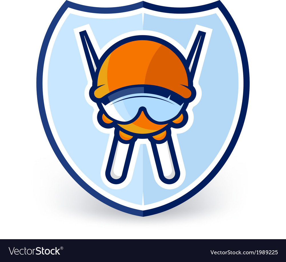 Ski label vector