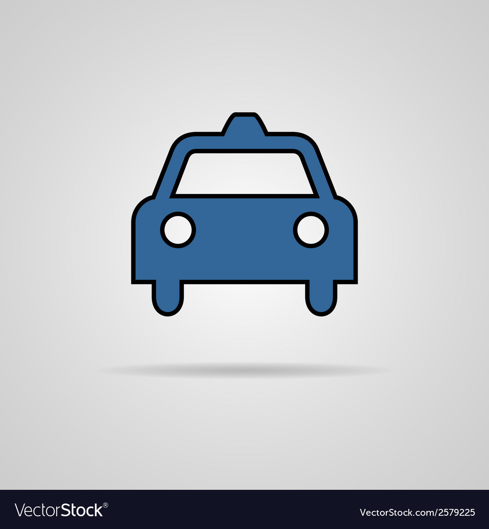 Taxi icon with shadow eps10 vector | Price: 1 Credit (USD $1)