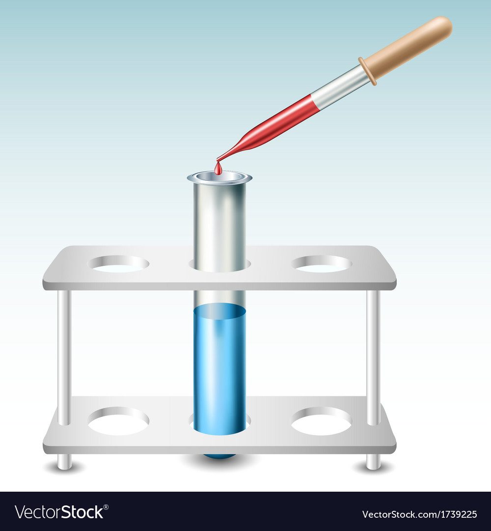 Test tube with holder and pipette vector | Price: 1 Credit (USD $1)