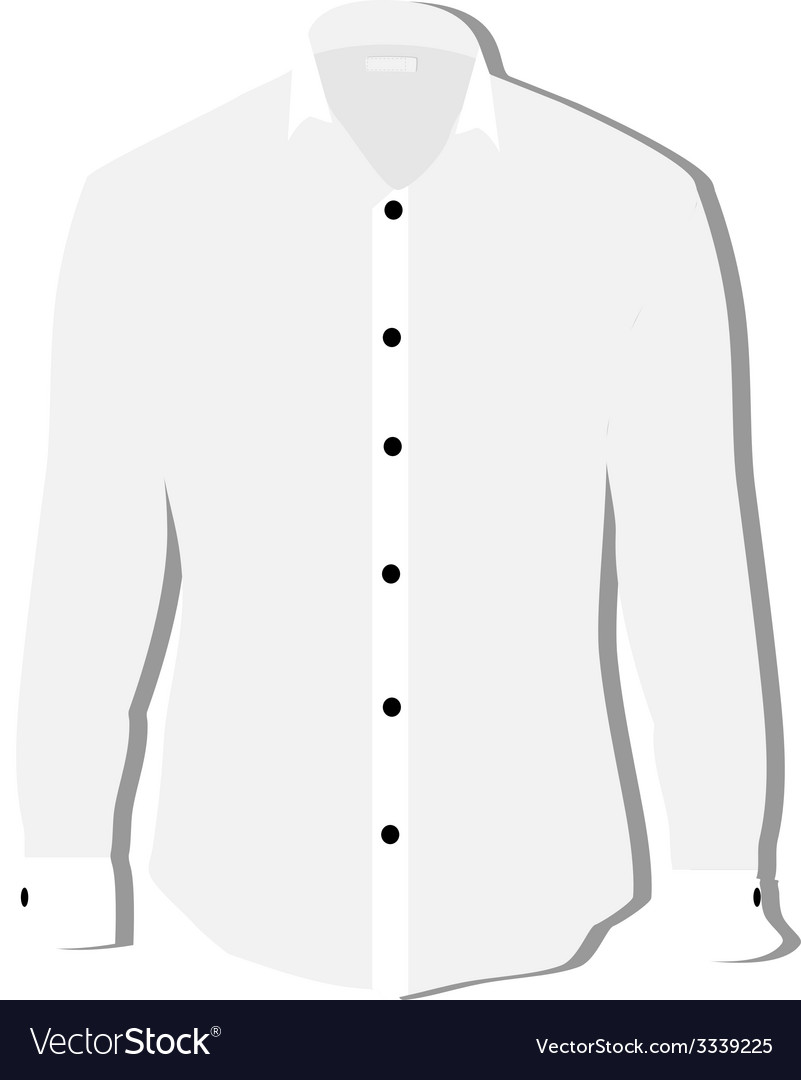 White shirt vector | Price: 1 Credit (USD $1)