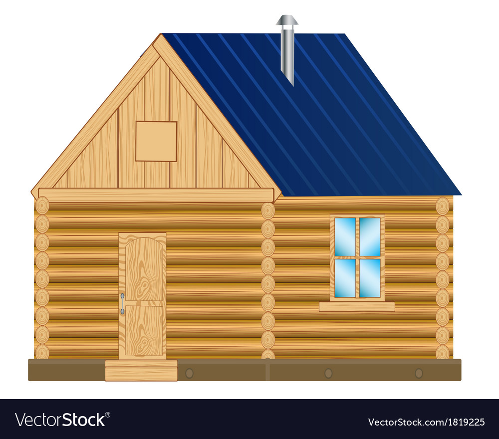Wooden mansion vector | Price: 1 Credit (USD $1)