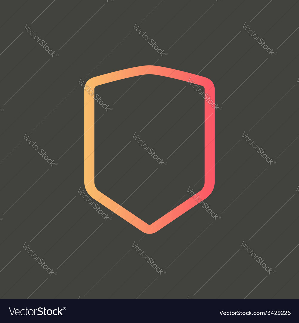Abstract shield icon vector | Price: 1 Credit (USD $1)