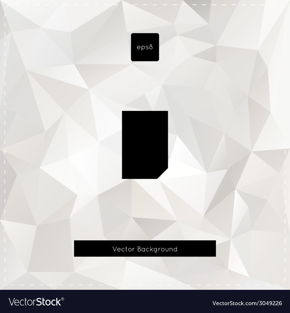 Abstract white polygonal background vector | Price: 1 Credit (USD $1)