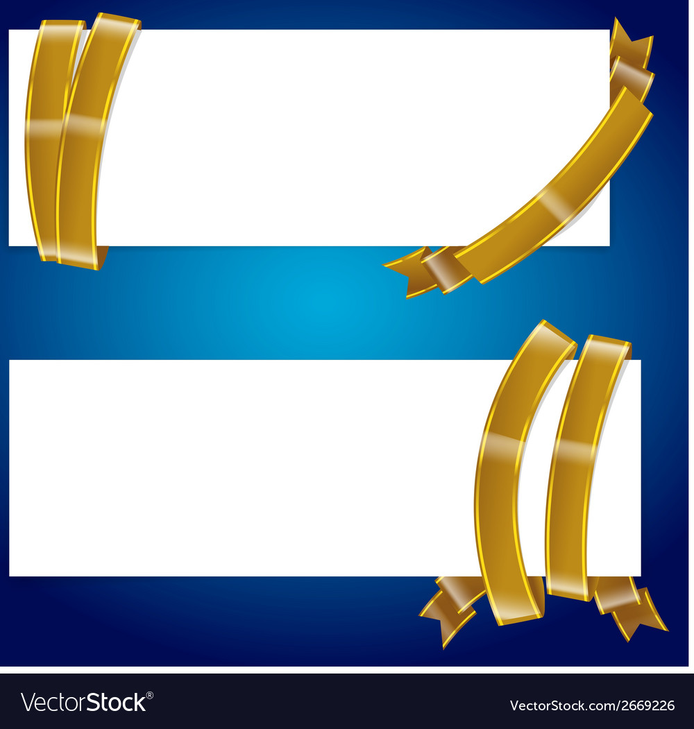 Banner with ribbon 003 vector | Price: 1 Credit (USD $1)
