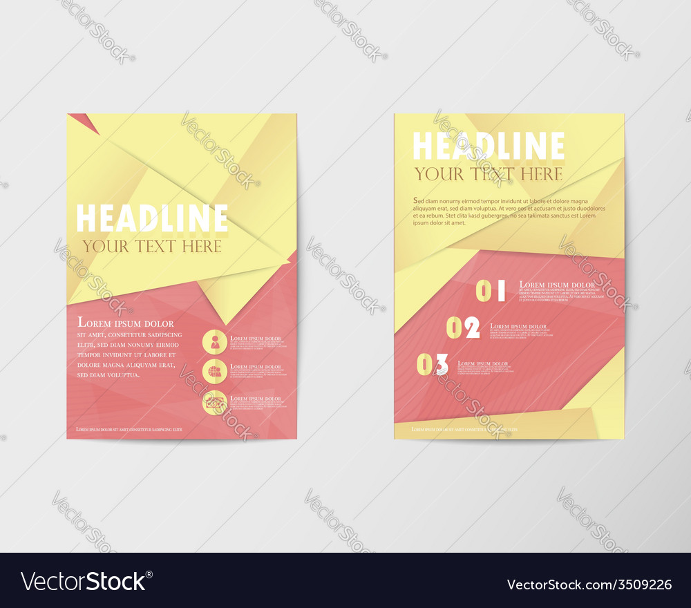 Brochure design layout template in a4 with gold pa vector | Price: 1 Credit (USD $1)