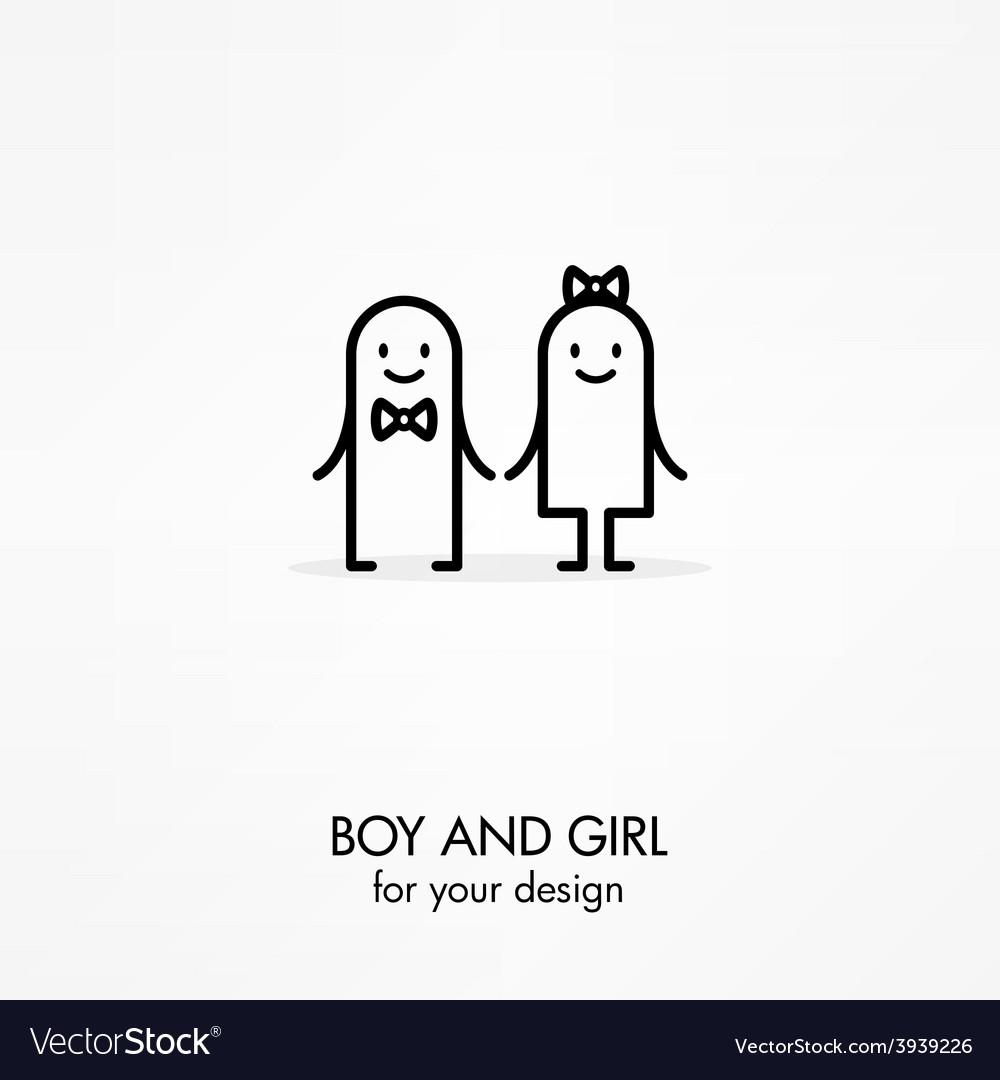 Cartoon boy and girl vector   Price: 1 Credit (USD $1)