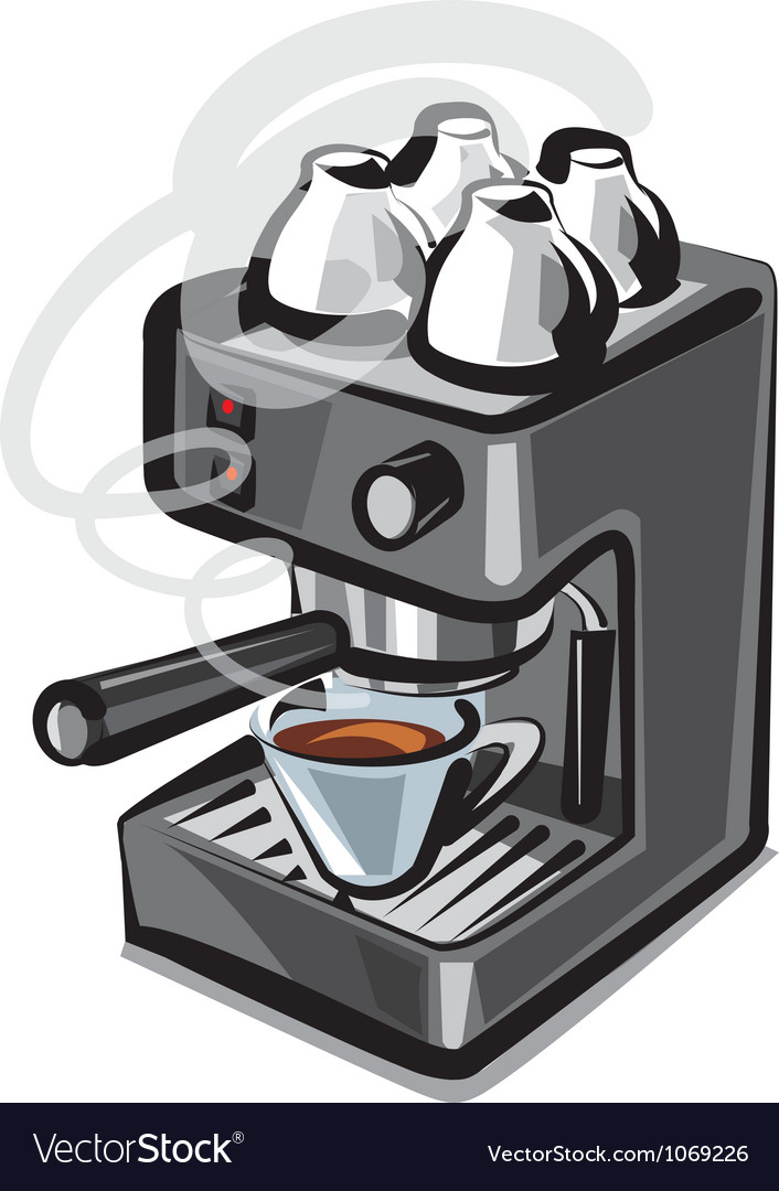 Coffee machine2 vector | Price: 3 Credit (USD $3)